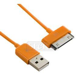 4World Kabel USB 2.0 do iPad / iPhone /iPod transfer/ładowanie 1.0m pomarańczowy - 07938-OEM
