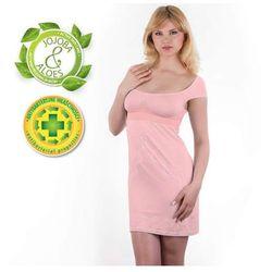 Babyono - Koszulka nocna dla matek karmiących - różowa - L