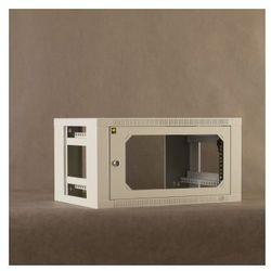 Netrack szafa wisząca 19'', 6U/400 mm - popiel, drzwi przeszklone, otwierane bok