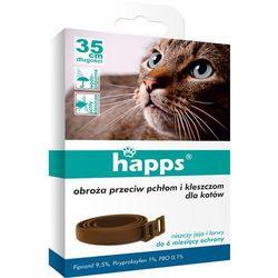 Obroża przeciw pchłom i kleszczom dla kotów Happs
