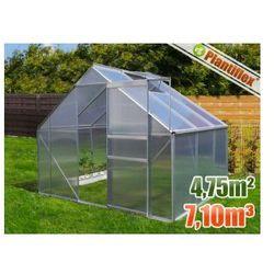 Szklarnia ogrodowa 4,75 m kw 250 x 190 - szklarnie aluminium + poliwęglan UV
