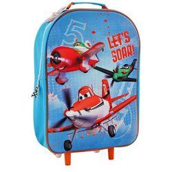 d7ee9c79a683b DISNEY Planes 3D Samoloty Niebieski plecak - tornister na kółkach trolley 5+