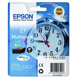 Epson oryginalny ink C13T27054020, 27, color, 3x3,6ml, Epson WF-3620, 3640, 7110, 7610, 7620