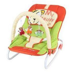 Leżaczek dla dzieci Sun Baby Safari bear Zielone/Pomarańczowe