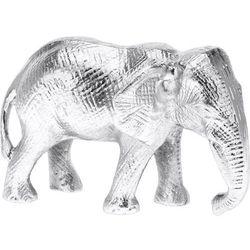 Srebrna Figurka Słonia Z Aluminium Słonik Na Szczęście Figurki Zwierząt Figurki Ozdobne Figurki Dekoracyjne Do Domu Posążek