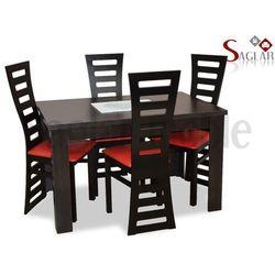 Zestaw TARO I 4 krzesła i stół 80x120/160