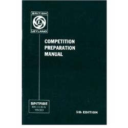 Triumph Owners' Handbook: Spitfire Competition Preparation Manual