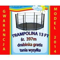 Trampolina ogrodowa z siatką śr. 13ft, 397cm,4m + drabinka.