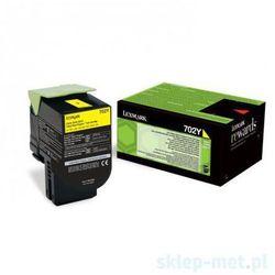 Lexmark oryginalny toner 70C20Y0, yellow, 1000s, return, Lexmark CS510de, CS410dn, CS310dn, CS310n, CS410n