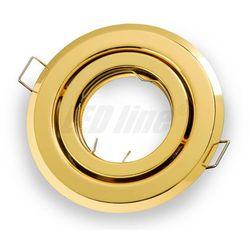 Oprawa halogenowa sufitowa okrągła ruchoma, tłoczona - złota