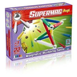 Supermag Maxi Classic, klocki magnetyczne, 22 elementy Darmowa dostawa do sklepów SMYK