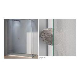 Ścianka stała ze ścianką krótką SanSwiss WALK-IN PUR szerokość 90 do 160 cm, prawa, połysk, szkło Durlux 200 DUOPDSM15022