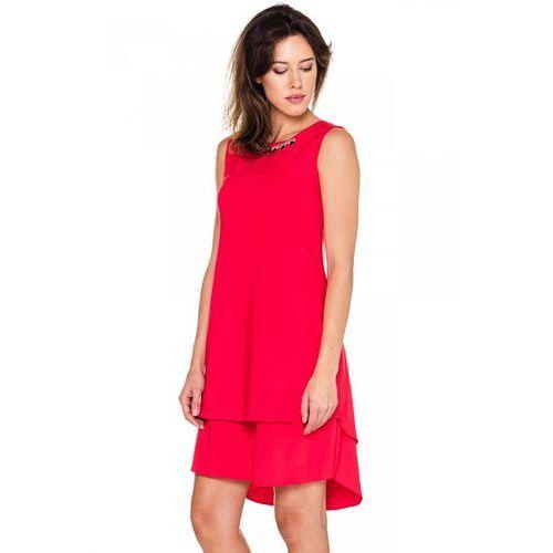 62c68df891 Czerwona sukienka z podwójną warstwą - De Facto - porównaj zanim kupisz