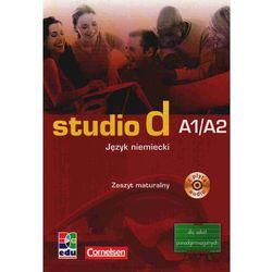 Studio d A1/A2. Szkoła średnia. Język niemiecki. Zeszyt maturalny + CD