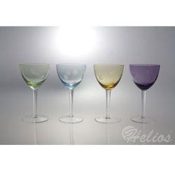 NOWOŚĆ: Kieliszki do wina 400 ml - HANDMADE / 4 kolory (6588)