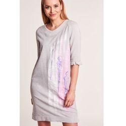 eef3184484 suknie sukienki sarah xl ciemno szara dresowa sukienka z koronka ...