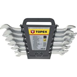 Zestaw kluczy płaskich TOPEX 35D655 6 - 17 mm (6 elementów)