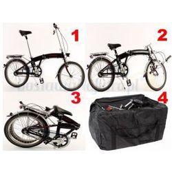 Aluminiowy rower składany SKŁADAK MIFA 3-BIEGI SHIMANO NEXUS czarny + torba