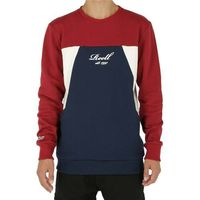 bluza REELL - Color Block Crewneck Red/Navy/Cream (RED-NAVY-CREAM) rozmiar: S