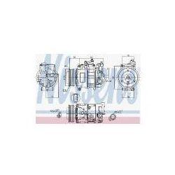 NISSENS Kompresor, klimatyzacja - 89052