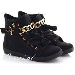 Sportowe buty TRAMPKI damskie sklep łańcuchy, złoty łańcuch.