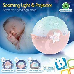 B-Kids Blue Box Projektor uspokajacz - lampka 2 w 1 różowa 4908
