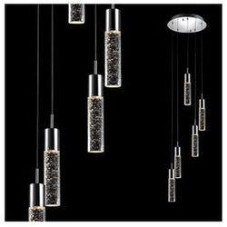 LAMPA wisząca XYLO 9740-5P Italux OPRAWA sufitowa HALOGENOWA bąbelki kaskada chrom przezroczysty