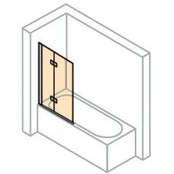 Parawan nawannowy Huppe Design Pure - 2-częściowy lewy 120 cm, profil chrom eloxal, szkło przeźroczyste 8P2302.092.321