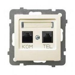 OSPEL AS GNIAZDO KOMPUTEROWO TELEFONICZNE MMC ECRU GPKT-G/K/m/27