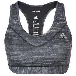 adidas Performance TECH FIT Biustonosz sportowy black/metallic silver