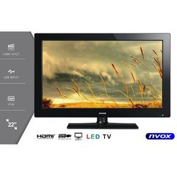 """Telewizor LED 22"""" USB HDMI VGA DVB-T MPEG-4/2 12V 230V"""