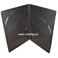 Etui plastikowe na 2DVD SLIM 7mm czarne