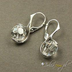 Kolczyki Swarovski Elements round crystal