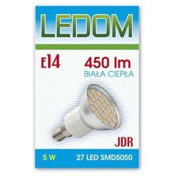 Żarówka - lampa LED 27 SMD5050 E14 JDR 230V 5W biała ciepła - biała ciepła