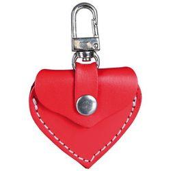 TRIXIE adresówka dla psa skórzana Serce - czerwona
