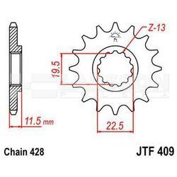 Zębatka przednia JT F409-16, 16Z, rozmiar 428 2200366 Suzuki DR 125