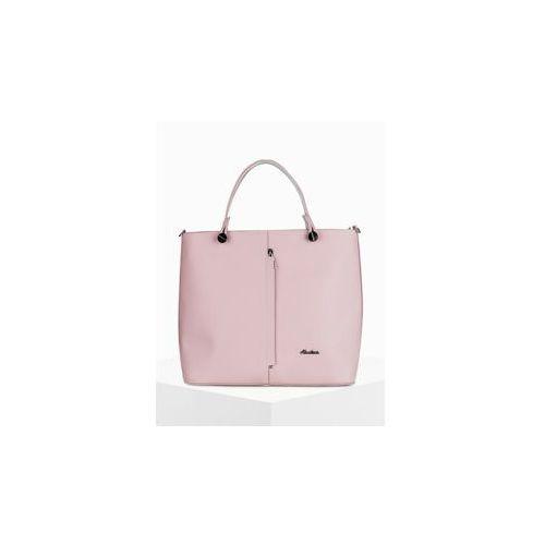 6008e3c71e820 Pudrowo różowa torebka na ramię Abakus BLR059 - porównaj zanim kupisz