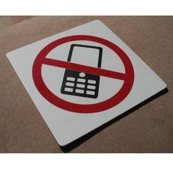 Piktogram, Symbol - Zakaz używania komórek 15x15cm
