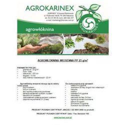 Agrowłóknina wiosenna PP 23 g/m2 biała 3,2 x 10 mb. Paczka o wadze 0,8 kg.