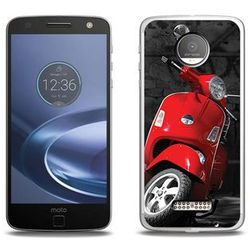 Foto Case - Lenovo Moto Z Force - etui na telefon Foto Case - czerwony skuter