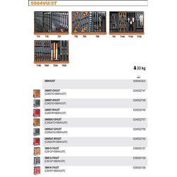 WÓZEK NARZĘDZIOWY 2400/C24S7 Z ZESTAWEM NARZĘDZI, 146 ELEMENTÓW, MODEL 2400S7-R/VU3T, CZERWONY