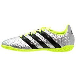 adidas Performance ACE 16.4 IN Halówki silver metallic/core black/solar yellow