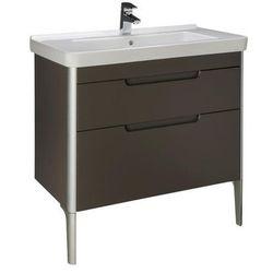 Zestaw łazienkowy Unik 85 cm z 2 szufladami Roca Dama-N A851048153 Szary antracyt połysk
