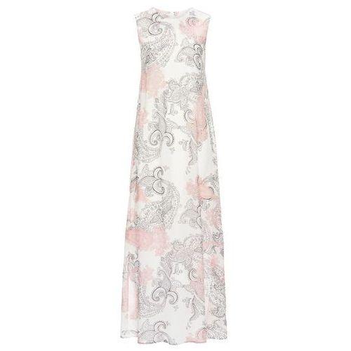 071c4453f0 Letnia sukienka szyfonowa bonprix biel wełny