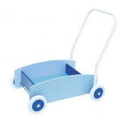 Drewniany chodzik, wózek -pchacz blue