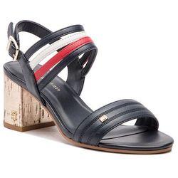 c86726bc51b94 Sandały TOMMY HILFIGER - Strappy Mid Heel Sandal FW0FW03671 Rwb 020