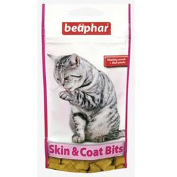 Beaphar Skin &Coat Bits 35g - przysmak z zawartością Malt Pasty, wit. A i E oraz kwasów Omega 3 i 6
