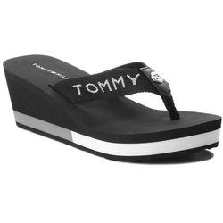 60bbc77a498f8 ... Beżowy) w kategorii Klapki damskie . Japonki TOMMY HILFIGER - Corporate  Beach Sandal FW0FW02958 Black 990