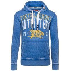 Niebieska bluza męska z kapturem z nadrukiem Denley 6229 - NIEBIESKI 79,99 (-20%)