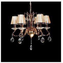 LAMPA wisząca FINEZZIA LDP 9267 - 6 Lumina Deco kryształowa OPRAWA ŻYRANDOL crystal złote beżowy
